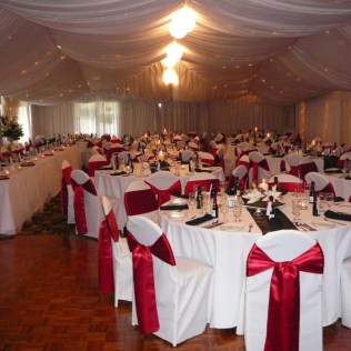 Red White And Silver Wedding