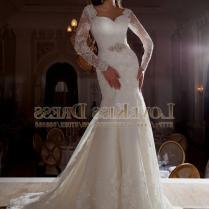 Sexy V Neck Long Sleeve Mermaid Wedding Dresses 2017 Vestidos De