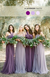 Shades Of Purple Bridesmaid Dresses For Rustic Weddings