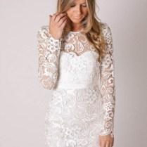 Short Lace Wedding Reception Dress