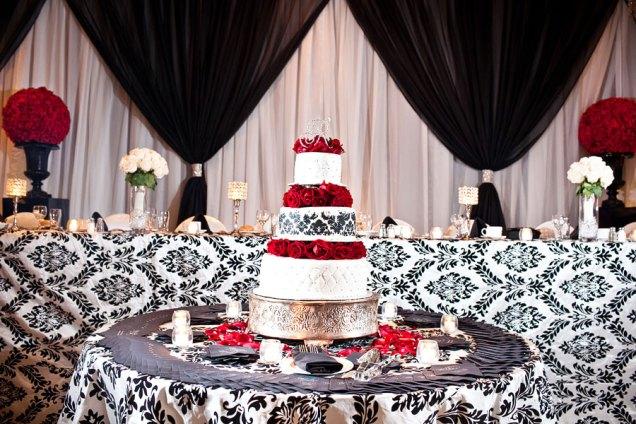 Similiar Black And White Damask Wedding Decorations Keywords