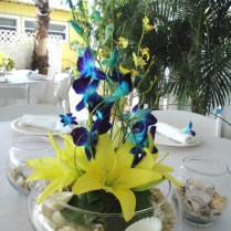Similiar Blue And Yellow Wedding Centerpieces Keywords