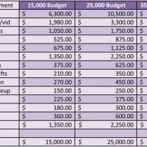 Similiar Wedding Expenses Keywords