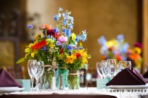 Summer Wildflowers Wedding Reception Table Idea More Great