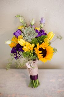 Sunflower Wedding Flower Arrangements