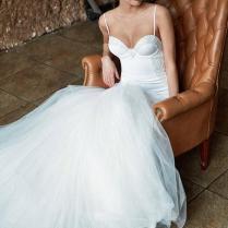 Trumpet White Spaghetti Strap Fall Sleeveless Sexy Wedding Dress