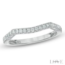 Vera Wang Love Collection 1 5 Ct T W Diamond Contour Wedding