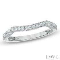 Vera Wang Love Collection 1 5 Ct T W Diamond Contour Wedding