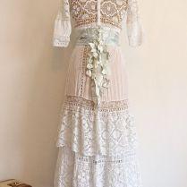 Vintage Lawn And Tea Dress Antique Wedding Dress Crochet Lace