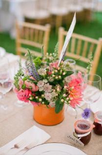 Vintage Wildflowers Wedding Centerpiece Ideas