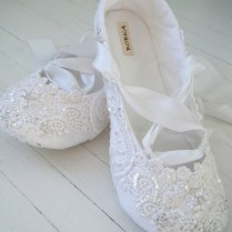 Waterlilly By Pink Wedding Flats In White Waterlilly By Pink
