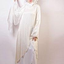 Wedding Abaya Stylishly Stitched White Color Wedding Abaya