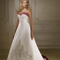 Wedding Dresses Maroon Colour