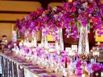 Wedding Reception Flower Arrangements And Decoration In Los
