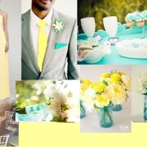 Wedding Theme Tiffany Blue And Yellow