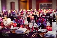 Purple Red Gold Wedding