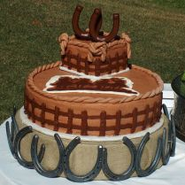 Western Theme Wedding Cake