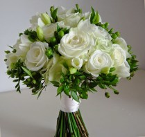 White And Green Flowers Bouquet