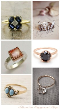 Wood Wedding Rings Alternative Engagement Rings Weddingwedding