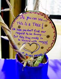 Wedding Money Tree Poem Lucky Wishing