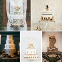 20 Deliciously Decadent Art Deco Wedding Cakes Chic Vintage Brides