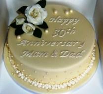 30th Wedding Anniversary Cake Ideas 30th Wedding Anniversary Cake