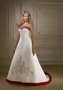 A Collection Of Red And White Wedding Dresses