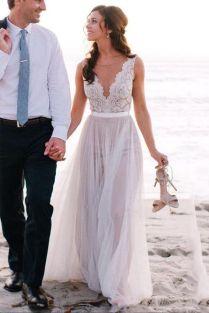 Fascinating Wedding Beach Dresses 13 On Diy Wedding Invitations