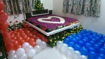 First Night Room Decoration For Couple By Kailash Florist We Are