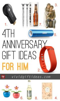 Four Year Wedding Anniversary Gift Ideas For Him 25 Unique 4th