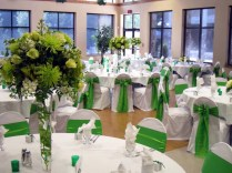 Green Wedding Decorations For Reception