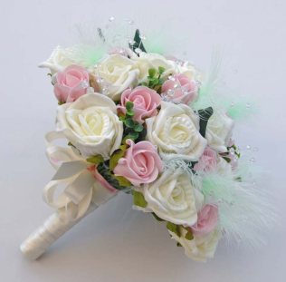 Light Pink And Ivory Wedding Bouquets Bridal Bouquet In Ivory And
