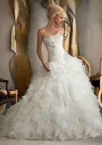 Organza Ruffle Wedding Dress