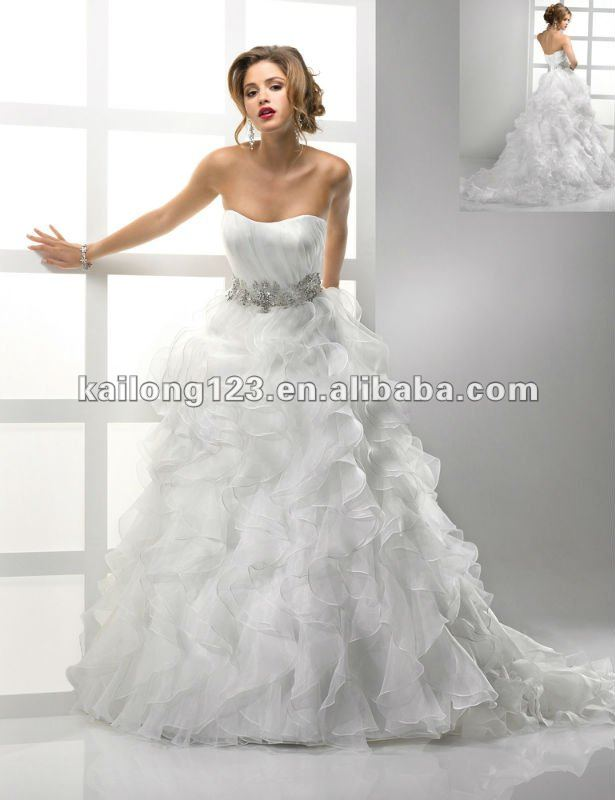 Ruffled Organza Wedding Dress – Emasscraft Org