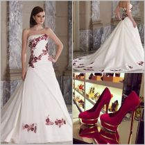 Very Beautiful Red And White Wedding Dress Inseratie Emasscraft Org