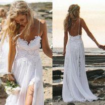 White Wedding Beach Dress Wedding Dresses Wedding Ideas And White