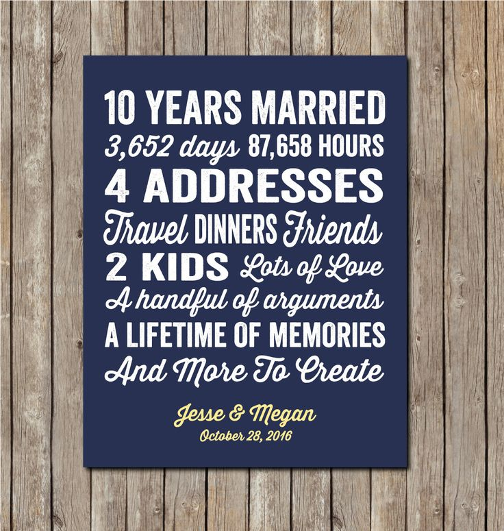 10th Wedding Anniversary Party Ideas: 10 Year Wedding Anniversary