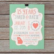 15 Year Wedding Anniversary