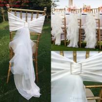 2017 2017 Chair Sash For Weddings Tulle Delicate Wedding Wedding