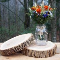 2 Wood Wedding Centerpieces