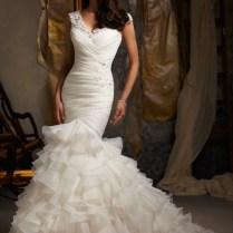7 Playful Ruffle Wedding Dresses