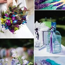93 Best Purple & Teal Or Turquoise Blue Wedding Theme Images On