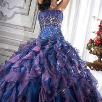 And Purple Wedding Dress