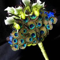 Any Flower Combination Goes Well With Peacock Feathers, Whether