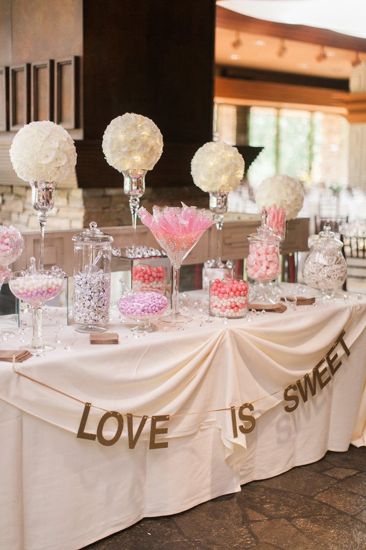Ideas For Candy Table At Wedding Reception