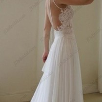 Awesome Flowy Open Back Wedding Dress 11 With Additional Discount