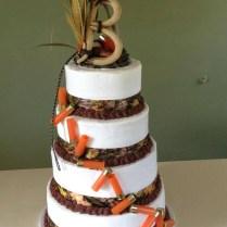 Awesome Hunting Themed Wedding Cake )