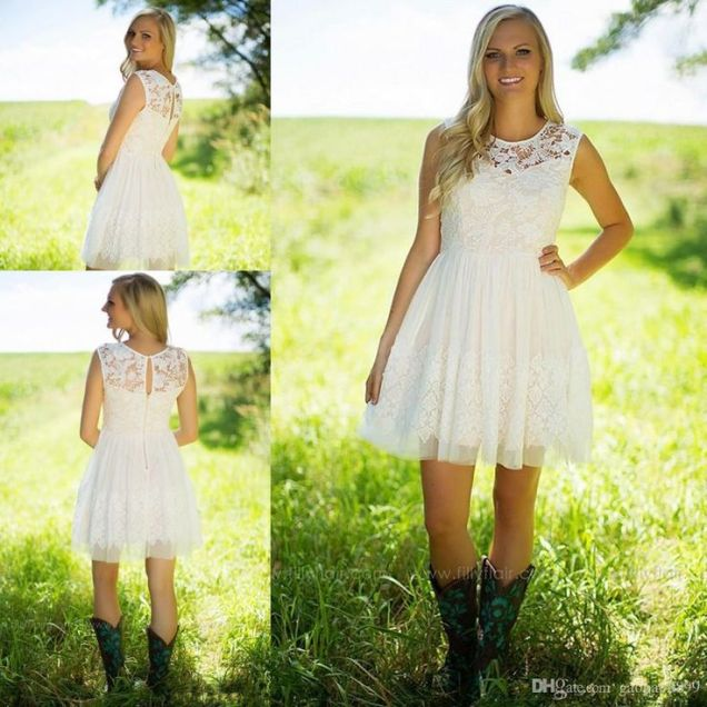 Awesome Western Wedding Dresses Short Contemporary