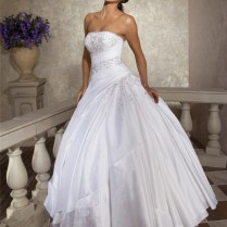 Ball Gown Sweetheart Feather Neckline Drop Waist Pleated Tulle