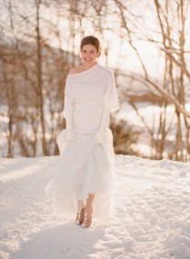 Be Cool When It's Cold With Winter Wedding Dresses